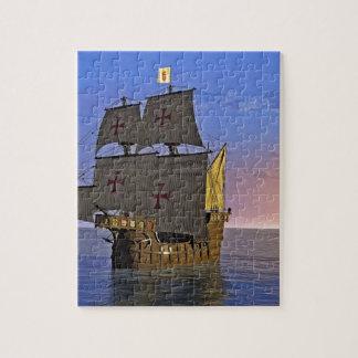 Mittelalterliches Carrack an der Dämmerung Puzzle