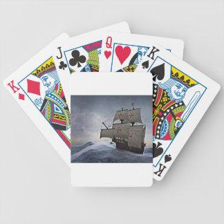 Mittelalterliches Carrack im Sturm Bicycle Spielkarten