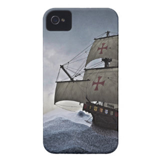 Mittelalterliches Carrack im Sturm iPhone 4 Cover