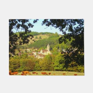 Mittelalterliches Dorf der Plazac Tür-Matte Türmatte