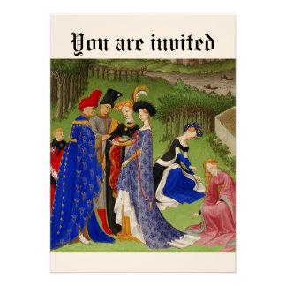 Mittelalterliches Ereignis Personalisierte Einladungskarte