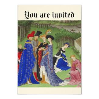 Mittelalterliches Ereignis 12,7 X 17,8 Cm Einladungskarte