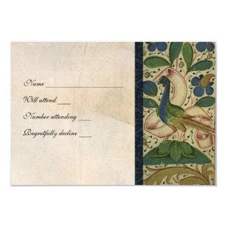 Mittelalterliches Fasan-Pergament-uAwg mit Personalisierte Ankündigung