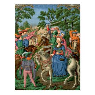 Mittelalterliches Leben Postkarte
