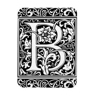 Mittelalterliches Monogramm-Vintage Initiale des Eckiger Magnet