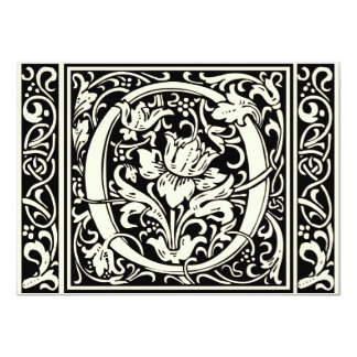 Mittelalterliches Monogramm-Vintage Initiale des 11,4 X 15,9 Cm Einladungskarte