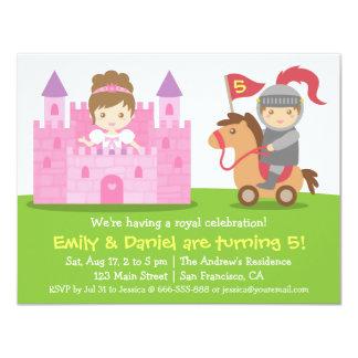 Mittelalterliches Prinzessin-und 10,8 X 14 Cm Einladungskarte