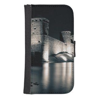 Mittelalterliches Schloss Galaxy S4 Geldbeutel Hülle