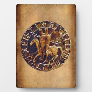 Mittelalterliches Siegel der Ritter Templar Fotoplatte
