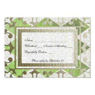 Mittelalterliches uAwg des extravaganten grünes 8,9 X 12,7 Cm Einladungskarte