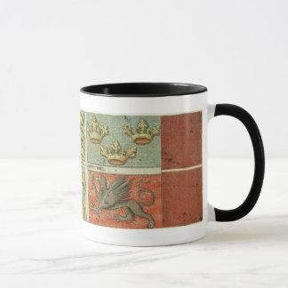 Mittelalterliches Wappen Schiffs-Flagge Tasse