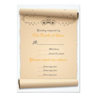 Mittelalterliches Warteflacher 12,7 X 17,8 Cm Einladungskarte