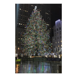 Mittelbaum New- YorkweihnachtenNYC Rockefeller Poster