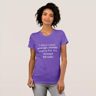 Mittelfinger für Alzheimerkrankheit T-Shirt