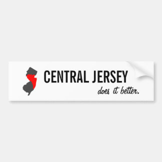 """Mitteljersey verbessert es"" NJ Autoaufkleber"