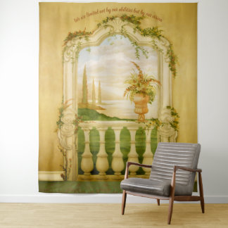 Mittelmeersee-Ansicht-Wandgemälde Wandteppich