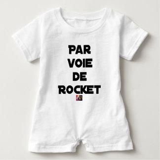 Mittels des ROCKET - Wortspiele - Francois Ville Baby Strampler