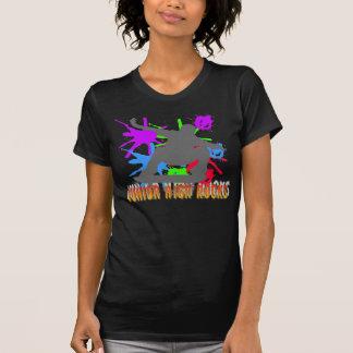 Mittelschule-Felsen - Skateboardfahrer T-Shirt