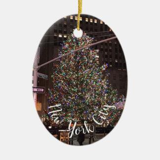 Mittelweihnachtsbaum New York City Rockefeller Keramik Ornament