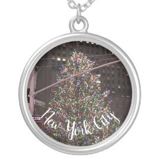 Mittelweihnachtsbaum New York City Rockefeller Versilberte Kette