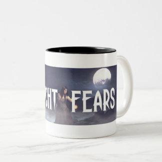 Mitternacht befürchtet der zwei Ton-Kaffee-Tasse Zweifarbige Tasse