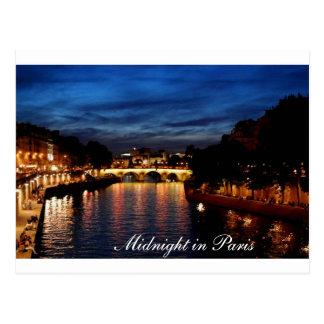 Mitternacht in Paris-Karte Postkarte