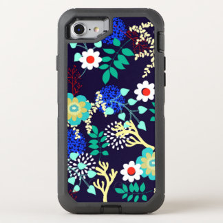 Mitternachtsbotanisches - dunkles abstraktes OtterBox defender iPhone 7 hülle