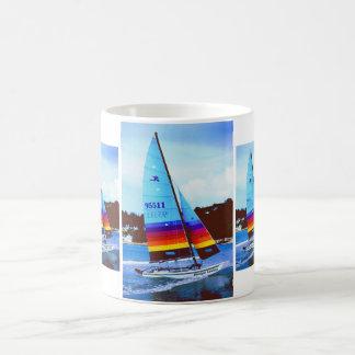 Mitternachtscowboy Hobie Segelboot Kaffeetasse
