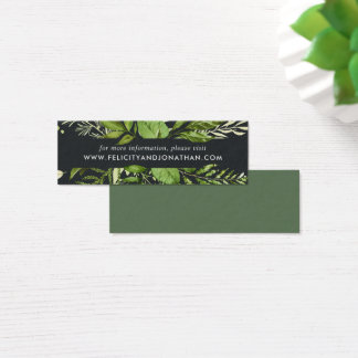 Mitternachtsgarten-Hochzeits-Website kardiert Mini Mini Visitenkarte