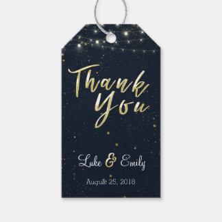MitternachtsGlamour-Gastgeschenk Hochzeit danken Geschenkanhänger