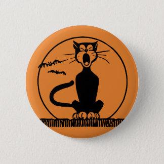Mitternachtskatzen-runder Knopf Runder Button 5,1 Cm