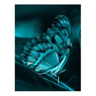 Mitternachtsleidenschaft, blaue Schmetterlings-Küs Postkarten
