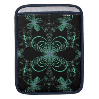 Mitternachtsleuchtkäfer-Ballett-Fraktal iPad Sleeve