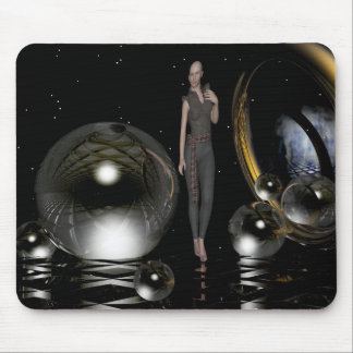 Mitternachtsmagie, 3 d-Kunst mit einer Frau Mauspad