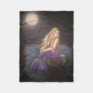 Mitternachtsmeerjungfrau-Fleece-Decke Fleecedecke
