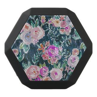 Mitternachtsüberfluss-dunkle Rose mit Blumen Schwarze Bluetooth Lautsprecher