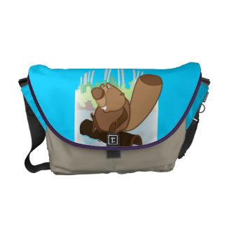 Mittlere Bote-Tasche mit Biber Kuriertasche