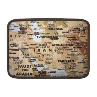 Mittlere Osten-Karte Macbook Luft-Hülse MacBook Sleeve