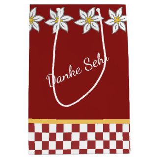 Mittlere rote Edelweiss Geschenk-Tasche Mittlere Geschenktüte