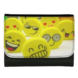 Mittlere smiley-Leder-Geldbörse