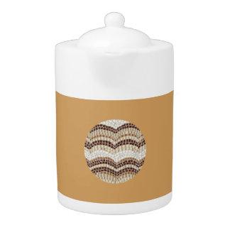 Mittlere Teekanne mit beige Mosaik