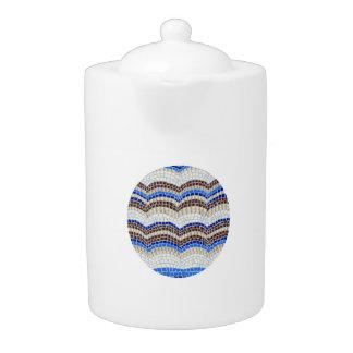 Mittlere Teekanne mit blauem Mosaik