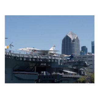 Mittlerer Flugzeugträger angekoppelt in San Diego Postkarte