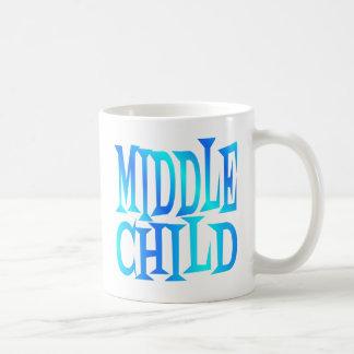 Mittlerer Kindertext im Blau Kaffeetasse