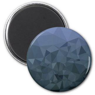 Mittlerer Schiefer-blauer abstrakter niedriger Runder Magnet 5,1 Cm