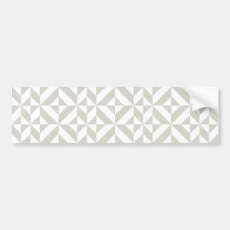 Mittleres graues geometrisches Deko-Würfel-Muster Autoaufkleber