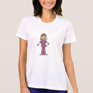 Mittleres Haut-Strichmännchen-weibliche T-Shirt