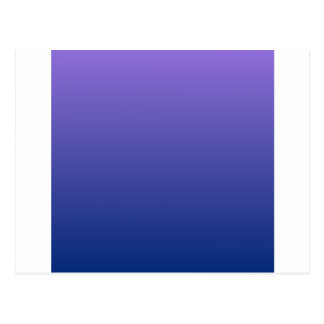 Mittleres Lila zu blauer horizontaler Steigung Postkarte