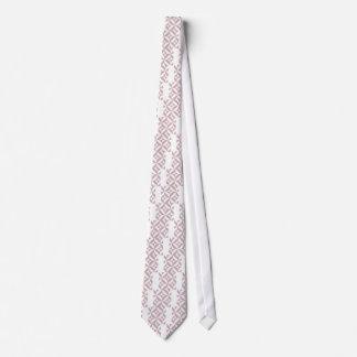 Mittleres malvenfarbenes geometrisches individuelle krawatte