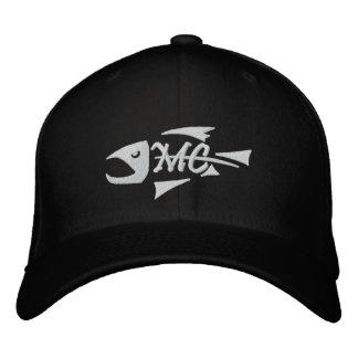 Mittleres Nebenfluss-Fisch-Skelett gestickter Hut